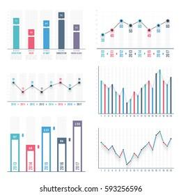 Bar Graph Template | Bar Graph Line Graph Templates Business Stock Vector Royalty Free