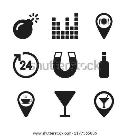 Bar Icon 9 Bar Vector Icons Stock Vector Royalty Free 1177365886