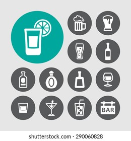 Bar icon collection