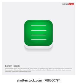 bar icon Green Web Button