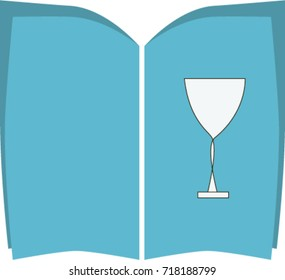 Bar logo. Menu with picture of cocktai glasslware.Isolated vector illustration, logo, clip art.