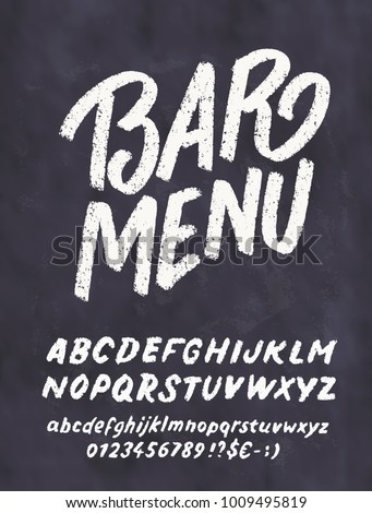 bar menu template chalkboard lettering stock vector royalty free