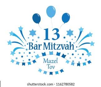 Bar Mitzvah invitation or congratulation card.
