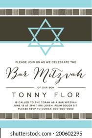 Bar Mitzvah Invitation Design in Vector