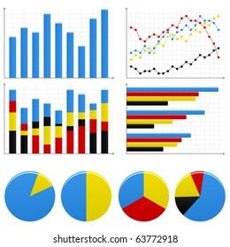 Bar Pie Graph Chart