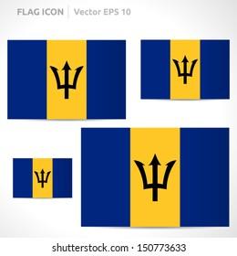 Barbados flag template   vector symbol design   color yellow blue and black   icon set