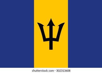Barbados flag vector