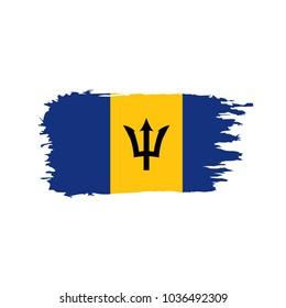 Barbados flag, vector illustration