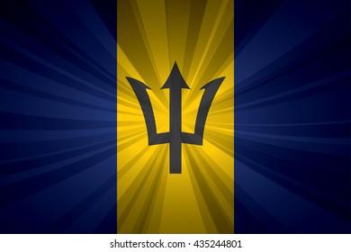 Barbados flag vector illustration.