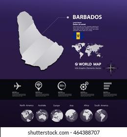 Barbados Map vector illustration