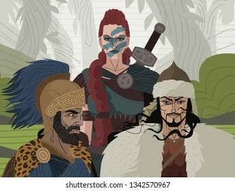 barbarians general warriors