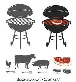 Barbecue elements set