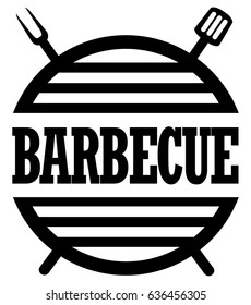 Barbecue and grill label.