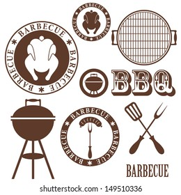 Barbecue grill. Logo. Vector illustration