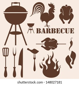 Barbecue Grill. Vector illustration