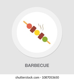 barbecue icon - grilled chicken illustration, restaurant symbol - cooking meal