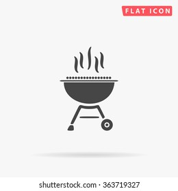 Barbecue Icon Vector. Simple flat symbol. Perfect Black pictogram illustration on white background.