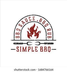 barbecue logo inspiration.modern design.vector illustration concept