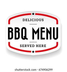 Barbecue menu Bbg vintage label