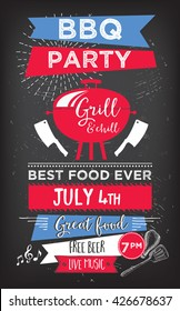 Barbecue menu placemat food restaurant brochure, bbq template design. Vintage creative dinner invitation with hand-drawn graphic. Vector food menu flyer. Gourmet menu board.