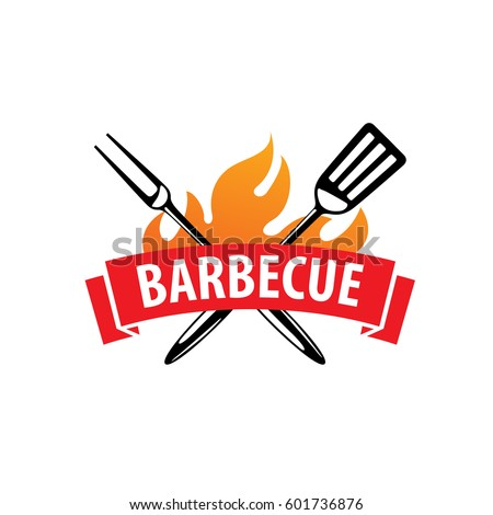 barbecue party logo stock vector royalty free 601736876 shutterstock