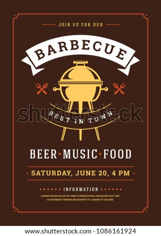 barbecue party vector flyer poster design stock vector royalty free