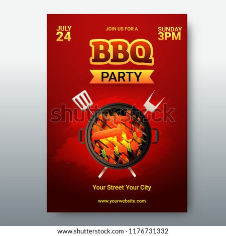 barbecue poster flyer template menu card stock vector royalty free