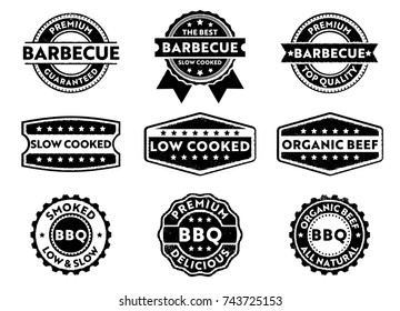 barbecue product sticker and stamp pack