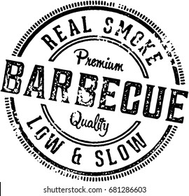 Barbecue Vintage Restaurant Stamp Sign