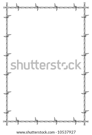 Barbed Wire Frame Vector Stock Vector (Royalty Free) 10537927 ...