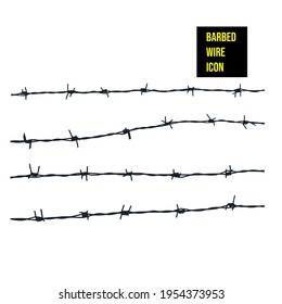 Barbed Wire icon - stock illustration. Barbed Wire on a white background