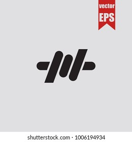 Barbed wire icon in trendy isolated on grey background.Vector illustration.
