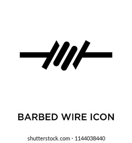 Barbed wire icon vector isolated on white background for your web and mobile app design, Barbed wire logo concept