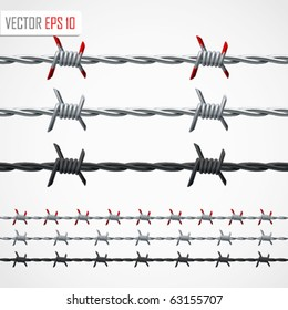 Barbed wire. Vector