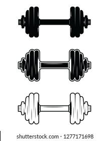 Barbell Dumbbell Gym Fitness clip art