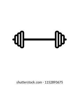barbell - fitness and gym icon vector
