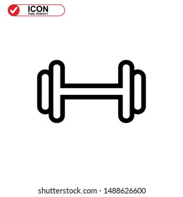 barbell icon isolated sign symbol vector illustration - high quality black style vector icons