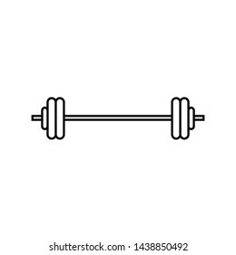 Barbell icon in line style isolated on white background. Gym, workout, fitness simple sign, symbol and logo.- vector
