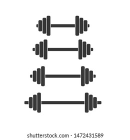barbell icon vector design template
