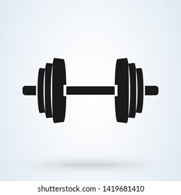 Barbell Simple vector modern icon design illustration.