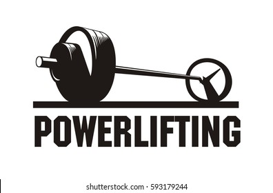 barbell with weights, vector image