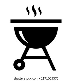 Barbeque charcoal grill icon