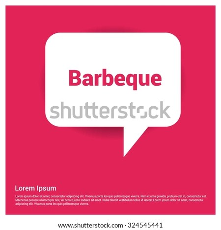 Barbeque Text Realistic Speech Bubble Stock Vector (Royalty Free