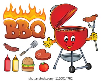 Barbeque theme set 2 - eps10 vector illustration.