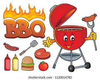 Barbeque theme set 2 - eps10 vector illustration.