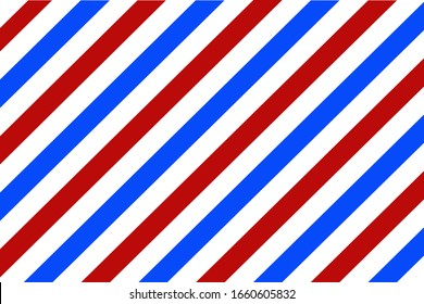 Barber background. Vector design  stripes pattern texture in flat style