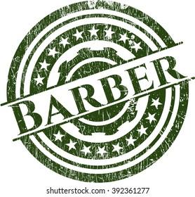 Barber grunge seal