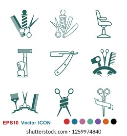 Barber icon vector, for web and mobile, salon hair dryer, hair curler.