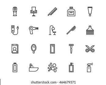 Barber Icons Line