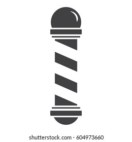 Barber pole vector icon